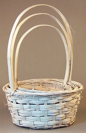 Split Rattan Set of 3 Basket
