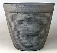 """Aged Lite Cottage 13"""" Round Planter-Ash Stone"""