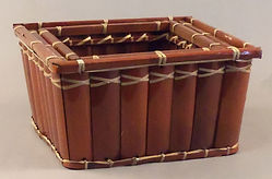 Bamboo Slat Baskets  Rectangle Trays