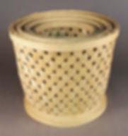 Split Wood Latice Baskets