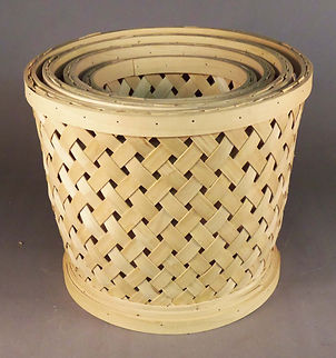 Split Wood Latice Baskets