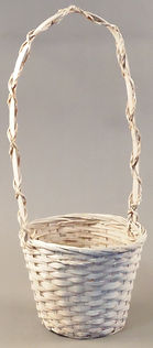 "Split Rattan 6"" w/Tall Handle-WHT"