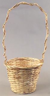 "Split Rattan 6"" w/Tall Handle-NAT"