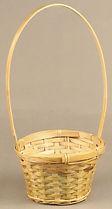 """Bamboo 5"""" Wicker Basket"""