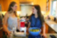 teen Girls cooking