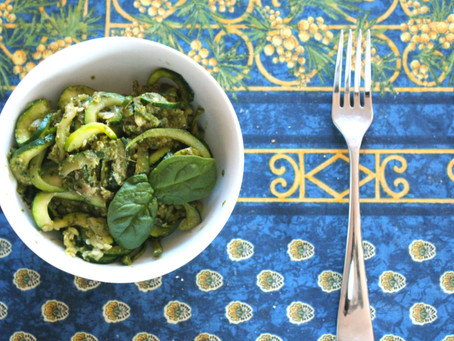 Zoodles! A Zucchini based pasta alternative + my pesto recipe