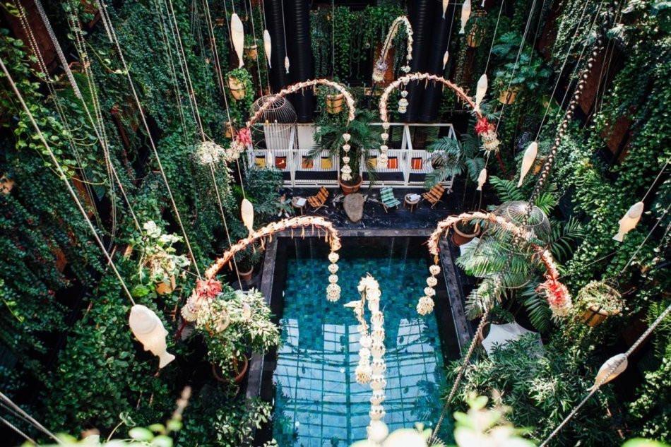 The interior swimming pool at Manon Les Suites eco hotel in Copenhagen