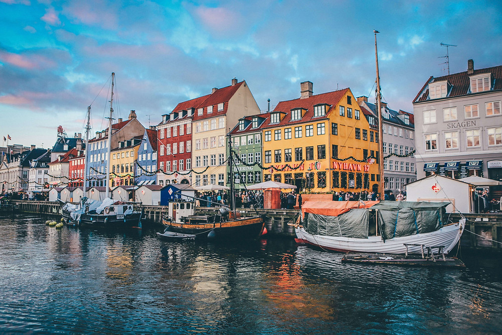 The colourful buildings in Nyhavn, Copenhage