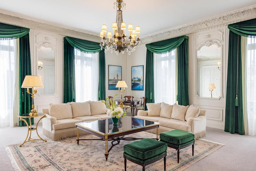 A luxurious suite at the Paris Le Grand eco hotel, one of the most eco-friendly hotels in Paris
