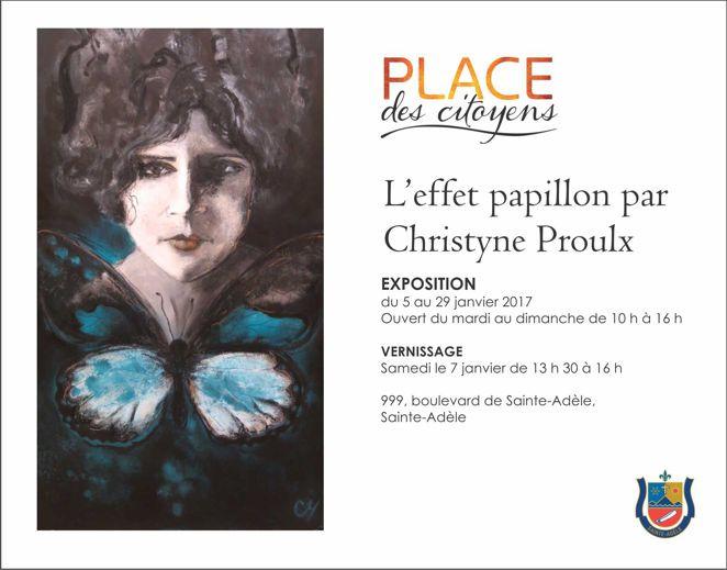 L'Effet papillon / Place des Citoyens Ste-Adèle