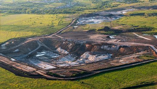 Luftbild Drohne Bergbau Landschaft Volumensermittlung Abraum Mapping Erdbau