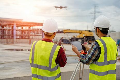 Luftbild Drohne Vermessung Gebäude Baustelle Dokumentation Handwerk Industrie