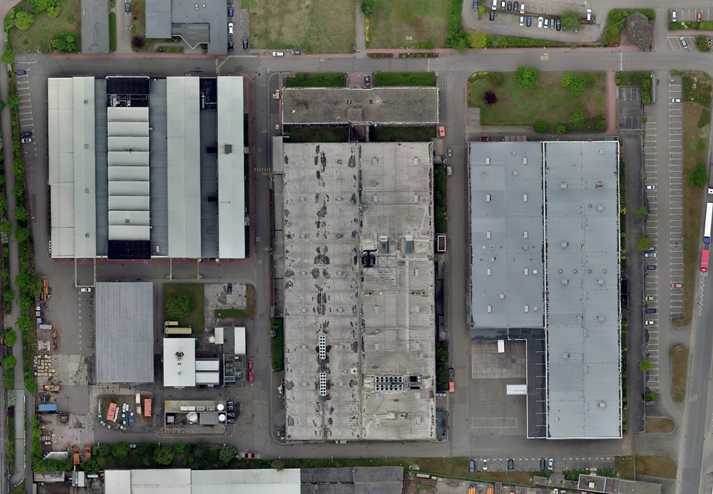 Orthomosaik eines Firmengeländes [~800 Einzelaufnahmen. 2cm/px]