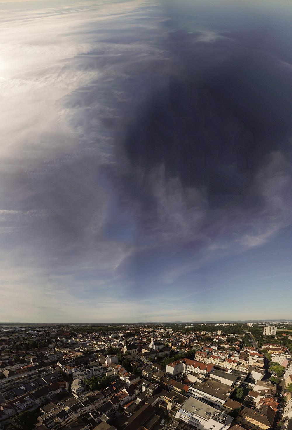 Luftbildausschnitt aus einem 360°-Panorama