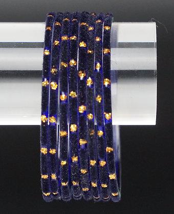 Velvet Blau Glas Armreifen
