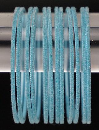 Velvet Hellblau Metall Armreifen