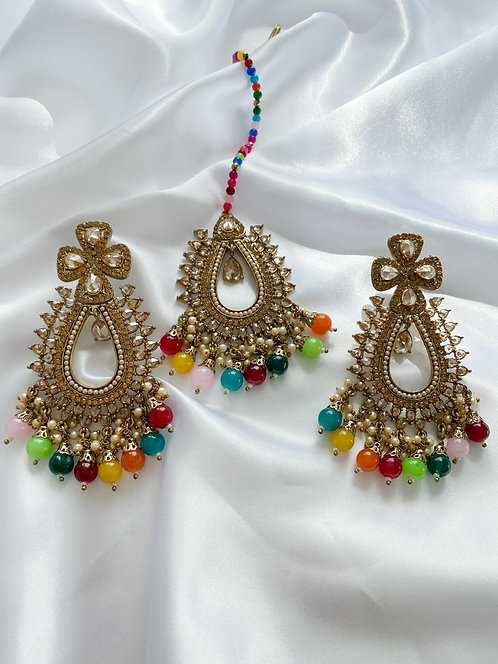 Saha Tikka Set Multicolor