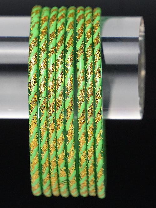 Hellgrün Glas Armreifen
