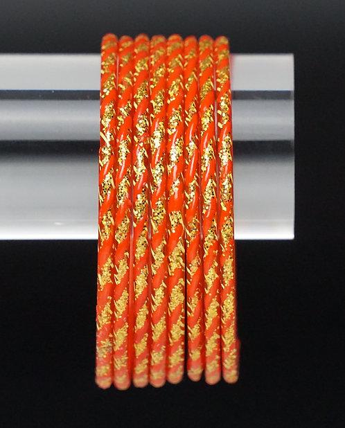 Orange II Glas Armreifen
