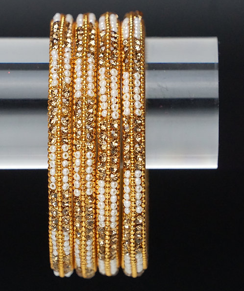 Kangan Weiß Gold 4 teilig