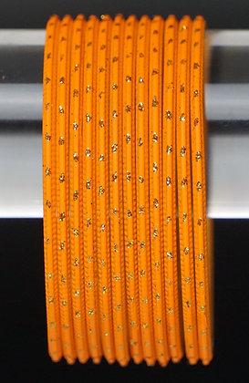 Orange Metall Armreifen