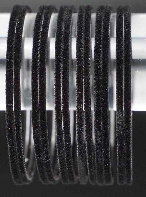 Velvet Schwarz Metall Armreifen