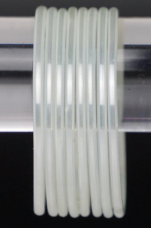 Weiß Glas Armreifen