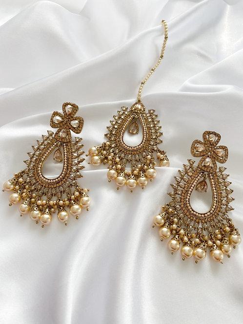 Saha Tikka Set Gold