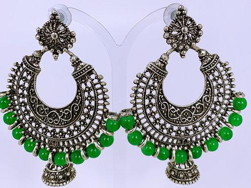 Green Metallic Ohrringe