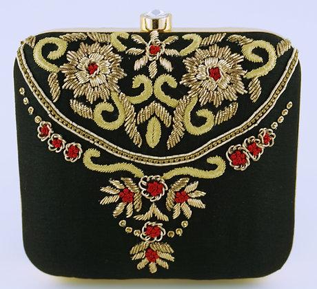 Black Ornament Clutch