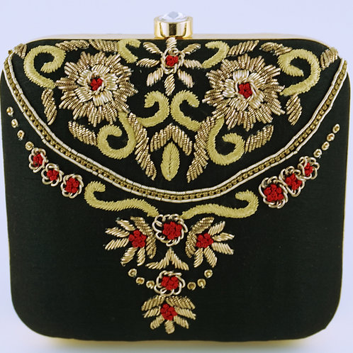 Black Ornament Clutch