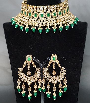 Emerald Bridal Schmuckset