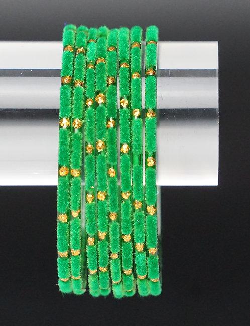 Velvet Grün Glas Armreifen