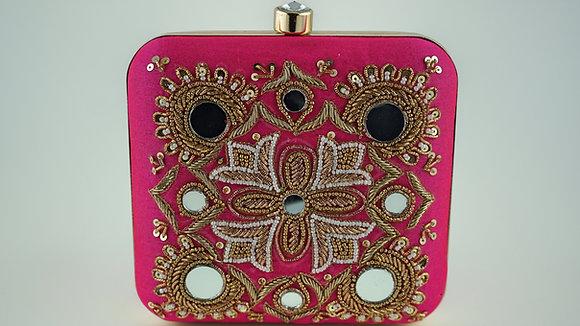 Pink Mirror Clutch