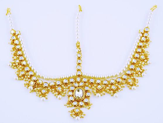 Pearl Kundan Matha Patti