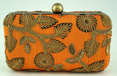 Light Orange Flower Clutch