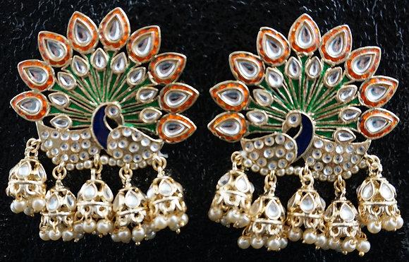 """Nargis"" Peacock Ohrringe"