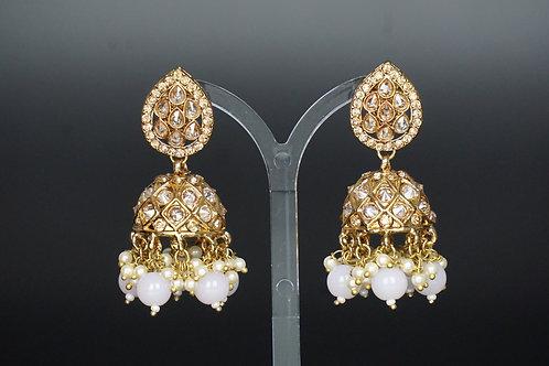 Pink Earring Tikka Set