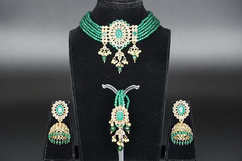 Emerald Choker Set