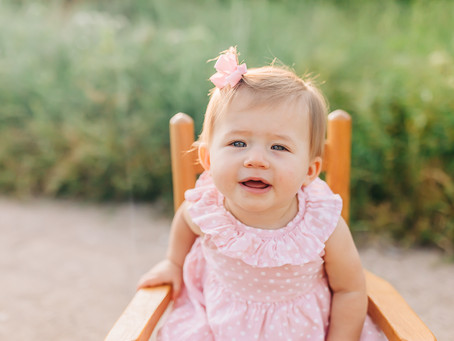 Annika Grace's 9 Month Milestone Session at Meads Quarry