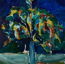 [크기변환]생각나는 밤, 2018, Oil on canvas, 97.0
