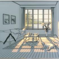 5.빛이 드는 공간. 20120,101x79x4cm강화유리에 샌딩, 유리