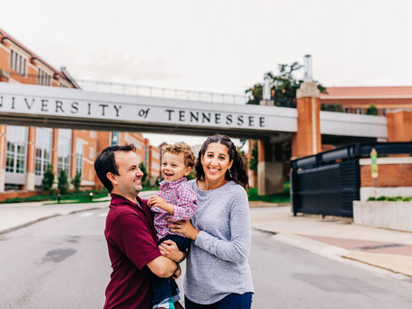 Lifestyle Family Session at UT Campus