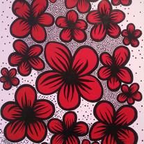 M221. Chubby Flower, Acrylic, pen on can