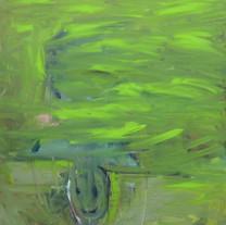 [크기변환]Green smile, 2018, Oil on canvas,