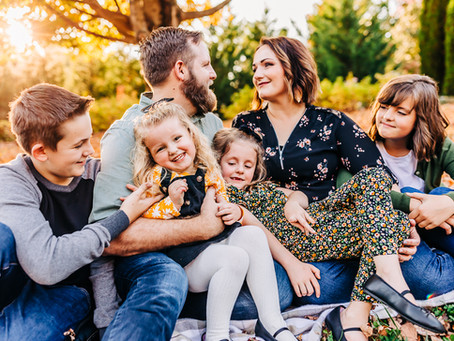 Fall Lifestyle Family Photography Session at Knoxville Botanical Gardens