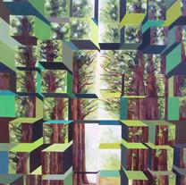 Cube tree 72.7¡¿53§¯ oil on canvas.2013.