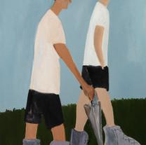 2 백윤조, Walkers, 40F, oil on canvas, 2019
