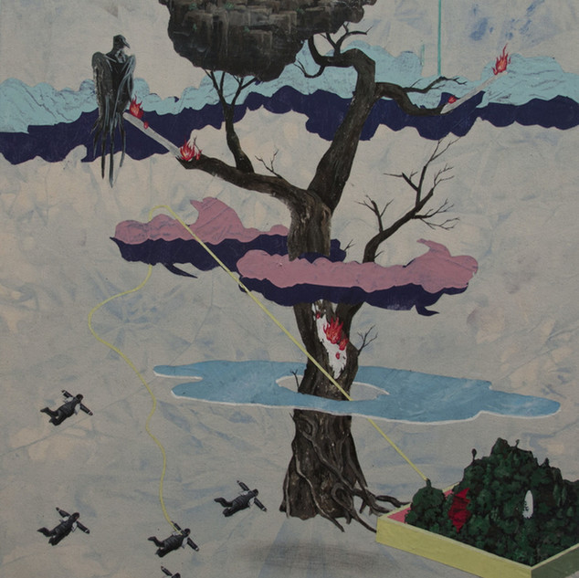 s_Tsai Shi Hung, The Tree, Acrylic on ca