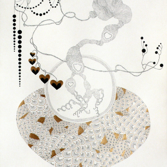 s_Something,2013,54.5x39.5cm,Pencil,gold